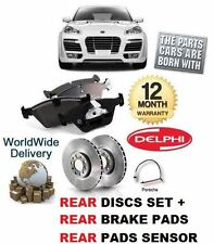 FOR PORSCHE CAYENNE S 4.8 TURBO 2007-2010 REAR BRAKE DISCS SET + PADS KIT
