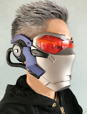 Game OW Soldier 76 Helmet Halloween Adult Cosplay Props ABS LED Light Masks