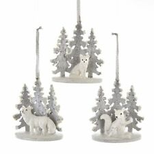 Silver & White Forest Animal Ornament