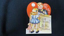 Vintage Court Judge Valentine Card c. 1940s by: Carrington