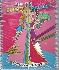 Prinzessinnen - NEU & OVP - Doppel Malbuch - ausmalen - weitermalen selber malen