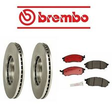 Brembo Front Left Right Brake Kit Rotors & Pads for Nissan 370Z 11-12 V6 3.7L