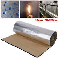 50*200CM Car Sound Proofing Deadening Insulation Heat Pads Foam Mat 10mm Roll UK