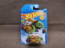 Hot Wheels 2021 #172 Brown Turtoshell Helix Wheels Tortoise Hot Rod Race Turtle