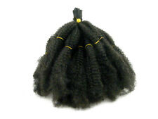 "ELYSEE STAR AFRO KINKY BULK LOOSE SYNTHETIC HAIR 24"" #1B OFF BLACK TWIST"