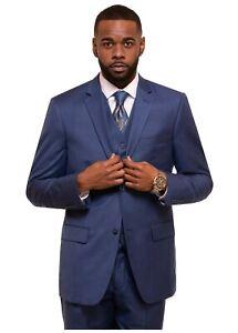 MENS Suit ROYAL CHARCOAL BLUE GREY BEIGE 3 PIECE SUIT Business Suit CLASSIC FIT