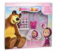 Masha & Bear Set Gift Perfume EDT 30 ML+Bracelet+Earrings Stickers