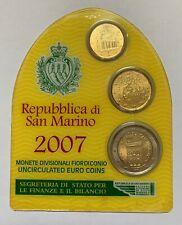 San Marino 2007 minikit coincard blister (10 cent - 20 cent - 2 euro)