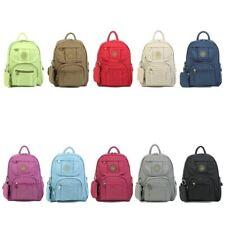 New Ladies Light Weight Nylon Multi Pockets School College Backpack Rucksacks UK