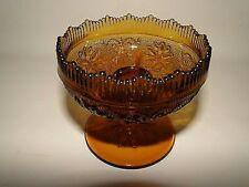 Tiara Amber SANDWICH GLASS Candleholder/Candle Bowl/Holder