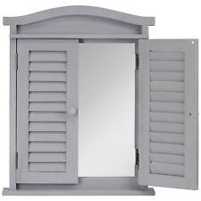 HARTLEYS gris shabby chic vintage fenêtre Obturateur Miroir Chambre À Coucher/Salle de bains/couloir