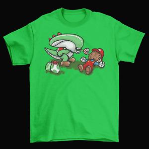 Yoshi Super Mario Bros. T-Shirt Mens Unisex Cotton Adult Size Xenomorph Alien