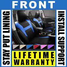 Blue & Black Front Car Seat Covers Set - OEM Bucket 2 Pc Pair Truck SUV J72