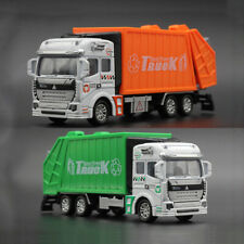 1:48 Garbage Truck w/ Trash Bin Model Diecast Gift Toy Vehicle Pull Back Kids