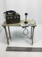 "1/6 FIELD RADIO & TABLE + MAPS FOR 12"" FIGURES DRAGON BBI DID 21ST GI JOE WW2"