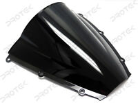 ABS Smoke Black Double Bubble Windscreen Windshield for 2003-2004 Honda CBR600RR