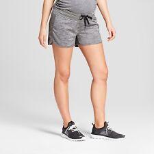 C9 by Champion Maternity Sport Shorts Dark Heather Gray - Size Small