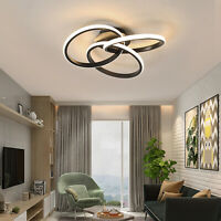 Modern Contemporary Ceiling Light Ring Chandelier Fixture Dimmable with Remote