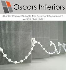 "Atlantex Welded Contract Machine Washable Vertical Blind Slats- 3.5"" or 5"""
