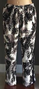 AUTOGRAPH Mono Palm Print Crepe Draw String Pants Plus Size 16 & 20 RRP $69.99