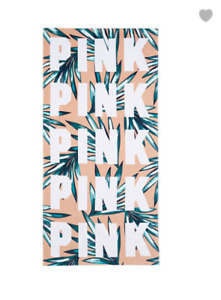 New Victoria's Secret PINK Beach Towel Pool Swim Towel Tropical Palm Great Gift
