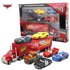 7PCS/Set Disney Pixar Car 3 Lightning McQueen Jackson Storm Mack Uncle Truck