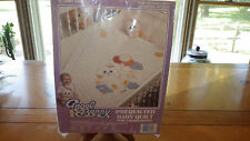 Baby Quilt for Embroidery Prequilted Birth Announcement Sampler w/floss Nos