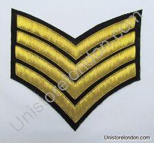 Chevrons Major Stripes Gold Bullion On Black 4 Bars 150mm Wide R1221