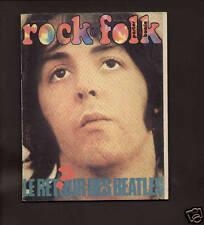 ROCK & FOLK 1973 FRENCH MAG BEATLES BOWIE GABRIEL EL&P