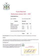 Frank Marshall Rotherham unida 1951-57 Original Firmada A Mano cutting/card