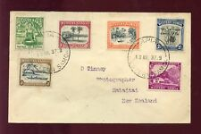 SAMOA 1937 COVER 6 COLOUR PICTORIAL FRANKING to NZ
