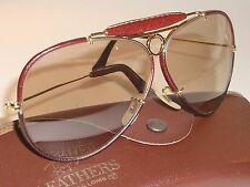 B&L RAY BAN L1650 PHOTO BROWN LEATHERS CHANGEABLE SHOOTER AVIATOR SUNGLASSES