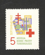 YUGOSLAVIA-MLH STAMP-TUBERCULOSIS- RED CROSS-TAX STAMP-1962.
