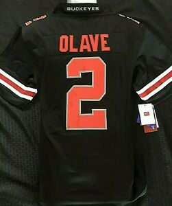 Chris Olave Jersey Ohio State Buckeyes Jersey Black Edition