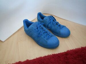 MENS ADIDAS SUPERSTARS RT  TRAINERS- UK  SZ 11 - SUEDE PERF - BLUE