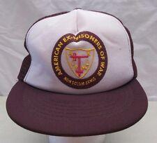Vintage Military American Prisoners of War SnapBack Hat USA Mesh Trucker