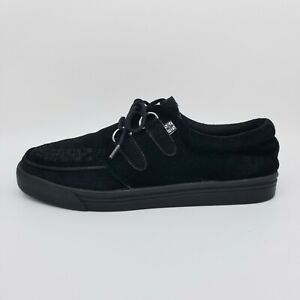 TUK Classic Creeper Sneakers Black Suede Punk US Size 7 Mens / 9 Womens (A6061)
