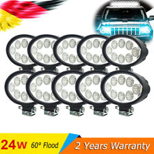 10x24W Oval LED Work Light Offroad 60°flood Driving Lamp for Moto Truck UTE auto