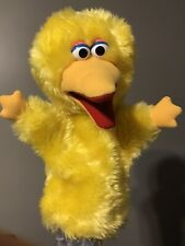Soft Plush Sesame Street Yellow BIG BIRD Hand Puppet Vintage Collectible