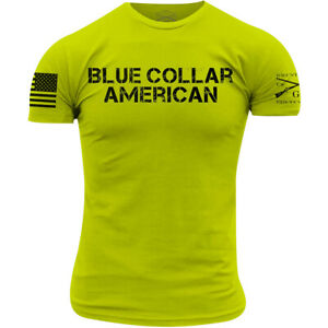 Grunt Style Blue Collar American T-Shirt - Safety Green