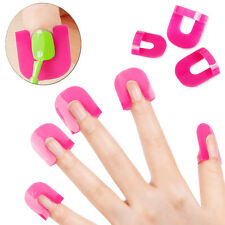 26pcs Curve Shape Spill-proof Finger Cover Sticker Nail Polish Holder Manicure