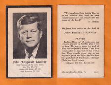Sterbebild J.F. Kennedy