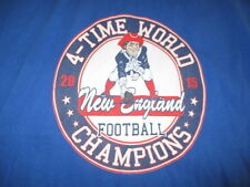 NEW ENGLAND PATRIOTS 4-Time World Champions (3XL) T-Shirt TOM BRADY Face of Pat
