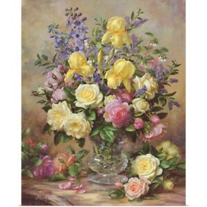 June's Floral Glory Poster Art Print, Still Life Home Decor