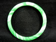 Chinese Oriental Natural Green Jade Round Bangle Bracelet Feng Shui Jewelry #ABw