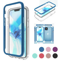 For iPhone 12 Pro Max 12 Mini Full-Body Phone Case + Built-In Screen Protector