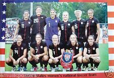 """UNITED STATES WOMENS NATIONAL SOCCER TEAM"""" POSTER-Wambach,O'Reilly,Rampone,Lilly"""