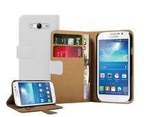Billetera De Cuero Blanco Flip Funda Pouch Para Samsung Galaxy Grand Neo gt-i9060