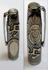 "Parker 51 Customized ""Aztec"" Fountain Pen Cap in Mixed Materials (CM)"