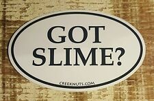 "GOT SLIME? Fishing Bumper Stickers MUSKY MUSKIE 5"" x 3"" decals fly fishing rods"